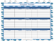 Blue Coupon Tracking Template