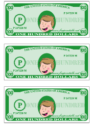 """One Hundred Play Dollar Template"""