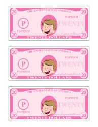 """Twenty Play Dollar Template - Pink"""