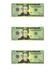 """20 Dollar Bill Templates"""