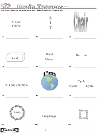 Brain Teasers Logic Puzzle Template With Answer Key