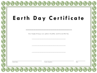 """Earth Day Certificate Template"""