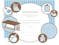 """Great Job in School Certificate Template"""