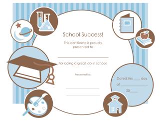"""""""Great Job in School Certificate Template"""""""