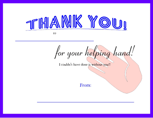 """Thank You Certificate Template - Lined"" Download Pdf"
