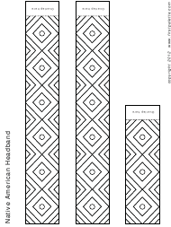 """Native American Headband Template"""