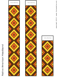 """Native American Colored Headband Template"""