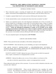 Hospital and Ambulatory Surgical Center Fax Report Form - Massachusetts