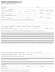 Accident/Incident Report Form - American Camping Association