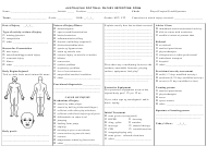 Football Injury Reporting Form - Australia