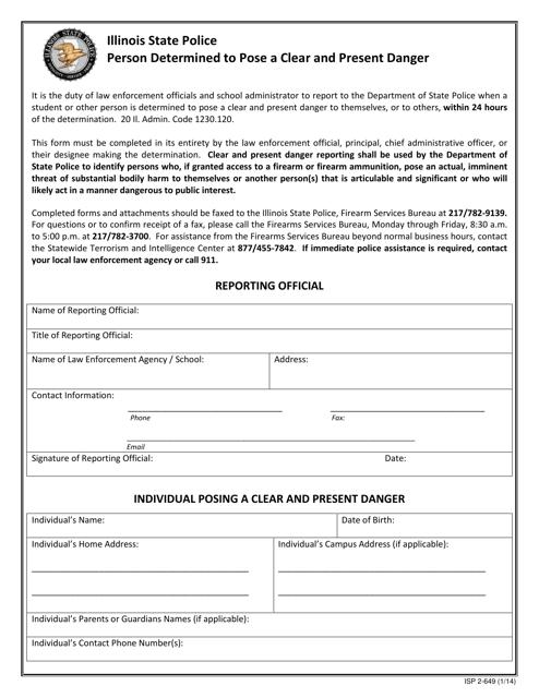 Form ISP2-649  Printable Pdf