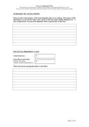 """Fraud Report Form"" - Queensland, Australia, Page 3"