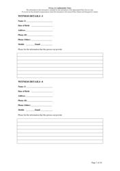"""Fraud Report Form"" - Queensland, Australia, Page 7"