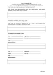 """Fraud Report Form"" - Queensland, Australia, Page 8"