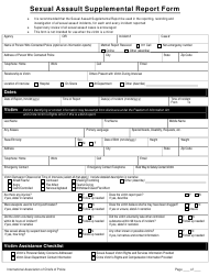 Sexual Assault Supplemental Report Form - International Association of Chiefs of Police