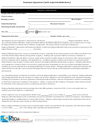 Employee License Agreement Form With Required Addendums - Sdcaa - San Diego County, California