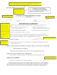 """Instructions for Form 240A """"Sample Reaffirmation Agreement"""" - Indiana, Page 2"""