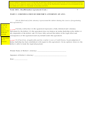 """Instructions for Form 240A """"Sample Reaffirmation Agreement"""" - Indiana, Page 8"""