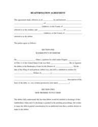 """Reaffirmation Agreement Form"""