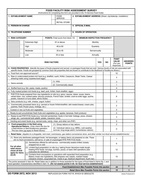 DD Form 2972  Printable Pdf