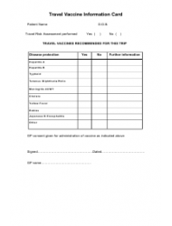 """Travel Risk Assessment Form"", Page 2"