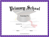 """Primary School Award Certificate Template"""
