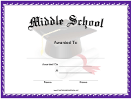 """Middle School Award Certificate Template"""