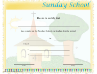 """Sunday School Certificate Template"""