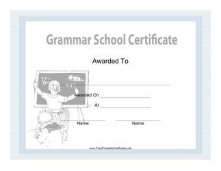 """Grammar School Certificate Template"""