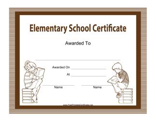 """Elementary School Certificate Template"""