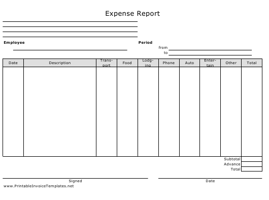 Expense Report Spreadsheet Template Download Pdf