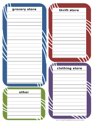 Multiple Stores Shopping List Template