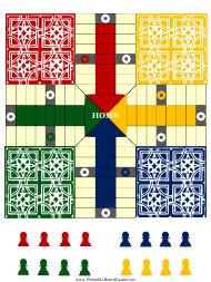 """""""Pachisi Board Template"""""""