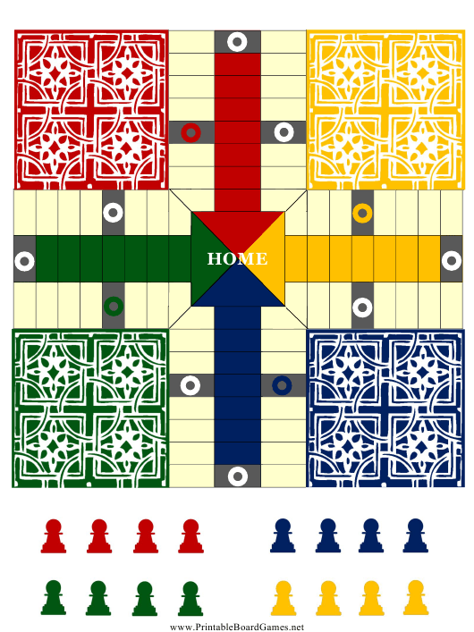 """""""Pachisi Board Template"""" Download Pdf"""
