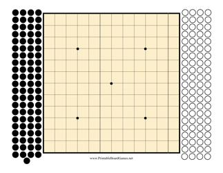 13x13 Go Board Template