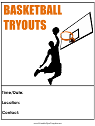 """Basketball Tryouts Flyer Template"""