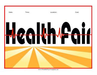 """""""Health Fair Flyer Template"""""""