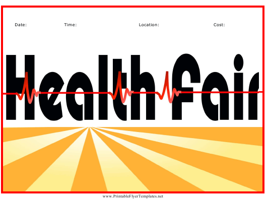 """Health Fair Flyer Template"" Download Pdf"