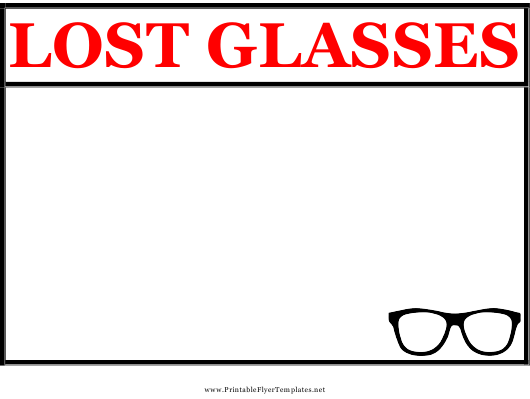 """""""Lost Glasses Poster Template"""" Download Pdf"""