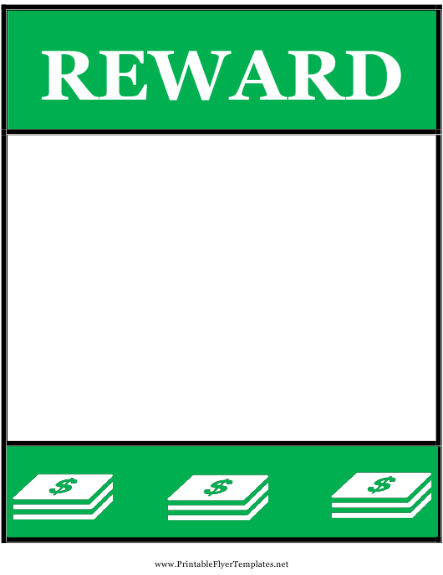 reward poster template download printable pdf templateroller
