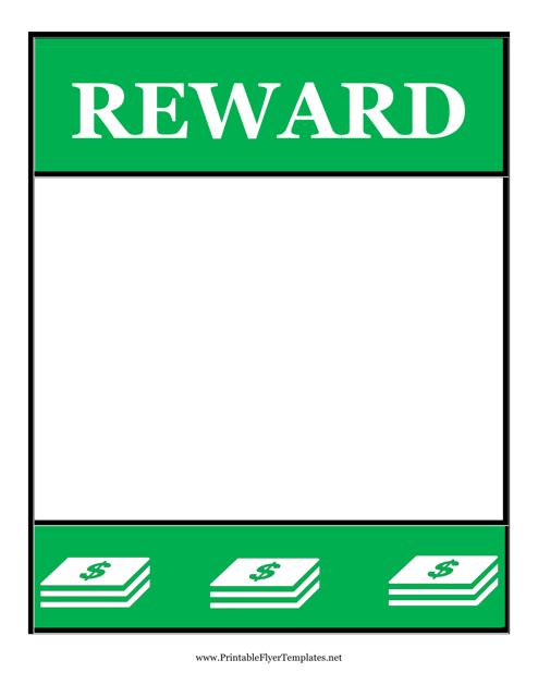 """Reward Poster Template"" Download Pdf"