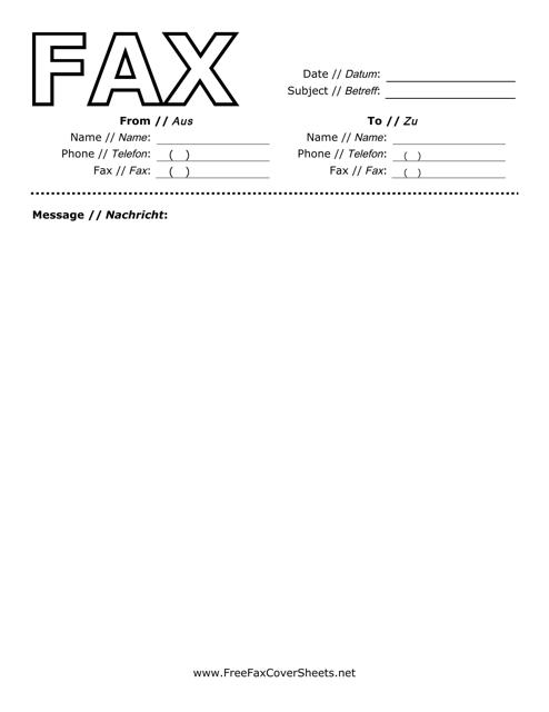 german english fax cover sheet download printable pdf templateroller