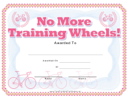 """Bike Award Certificate Template"""