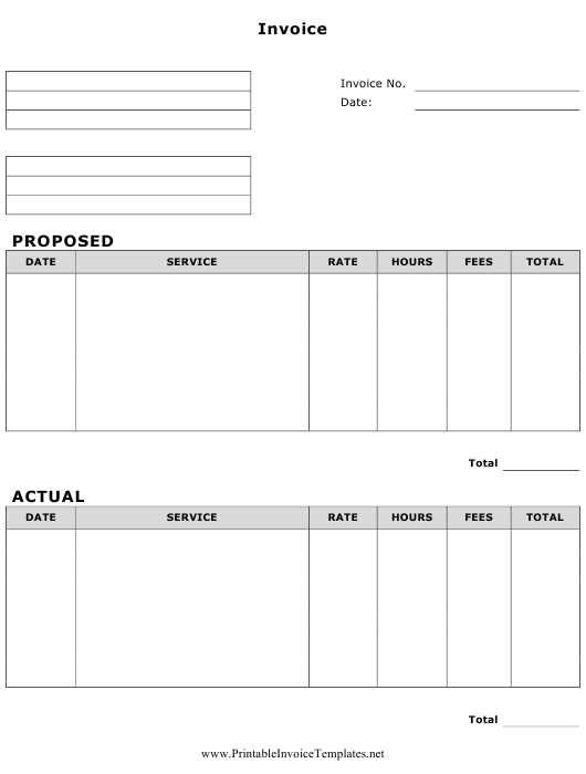 Invoice Template Download Pdf