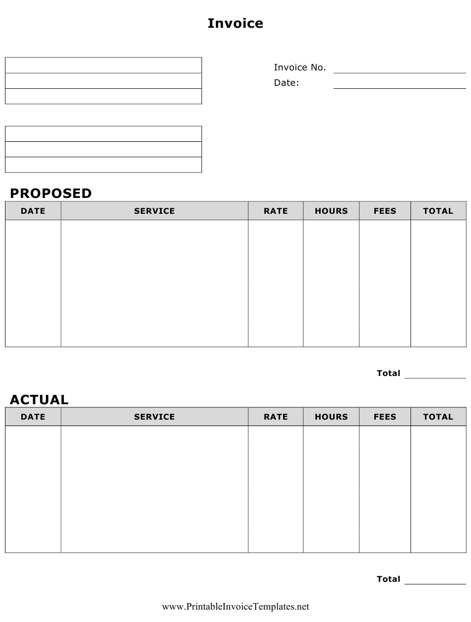 Invoice Template Download Printable PDF   Templateroller
