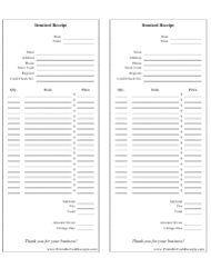 itemized receipt template two per page