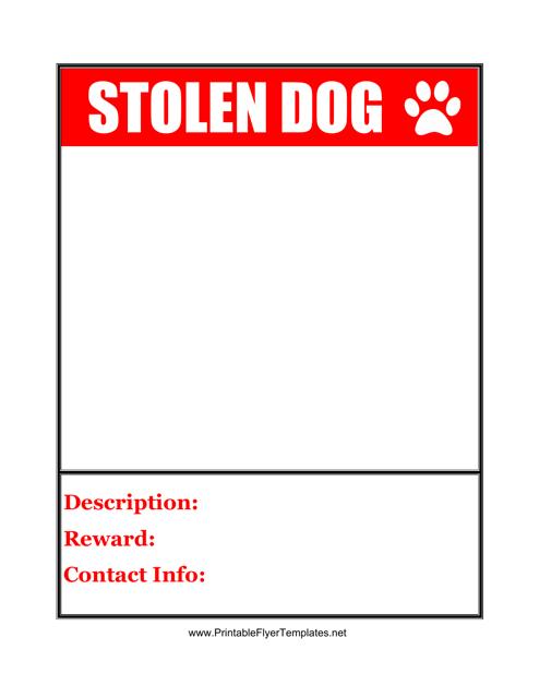 """Stolen Dog Poster Template"" Download Pdf"