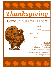 """Thanksgiving Flyer Template"""
