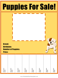 Puppies for Sale Flyer Template
