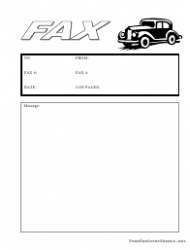 Fax Cover Sheet With Black Cab